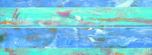 """<strong>Shoreham I</strong> – 26"""" x 72"""" – Acrylic with glass microspheres on canvas – SOLD"""