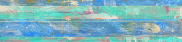 "<strong>Shoreham III</strong> – 26"" x 112"" – Acrylic with glass microspheres on canvas – SOLD"