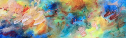 "<strong>You Must Believe in Spring</strong> - 96"" x 30"" - Acrylic on canvas - $9,200"