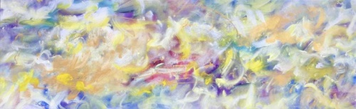 "<strong>Lullaby of Springtime</strong> - 96"" x 30"" - Acrylic on canvas - $9,200"