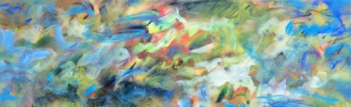"<strong>Spring Can Really Hang You Up</strong> - 96"" x 30"" - Acrylic on canvas - $9,200"