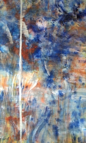 """<strong>Aroused</strong> – 58"""" x 36"""" – Acrylic with glass microspheres on canvas – $5,000"""