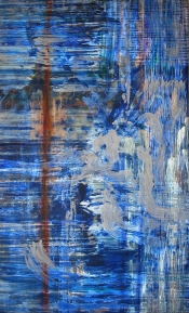 """<strong>Charmed</strong> – 58"""" x 36"""" – Acrylic with glass microspheres on canvas – $5,000"""