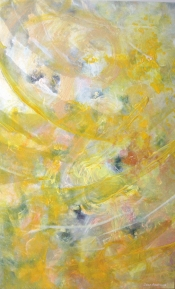 """<strong>Coastal Twist</strong> – 58"""" x 36"""" – Acrylic with glass microspheres on canvas – SOLD"""