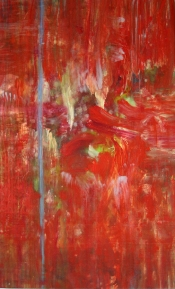 """<strong>Enraptured</strong> – 58"""" x 36"""" – Acrylic with glass microspheres on canvas – SOLD"""