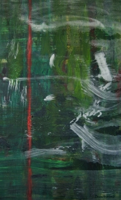 """<strong>Envied</strong> – 58"""" x 36"""" – Acrylic with glass microspheres on canvas – SOLD"""