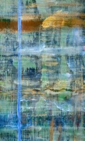 """<strong>Victorious</strong> – 58"""" x 36"""" – Acrylic with glass microspheres on canvas – SOLD"""