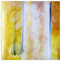 """<strong>Summer IV</strong> – Acrylic on archival paper – 18"""" x 18"""" – Framed in white 20"""" x 20"""" – $1,800"""