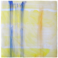 "<strong>Summer II</strong> – Acrylic on archival paper – 18"" x 18"" – Framed in white 20"" x 20"" – $1,800"