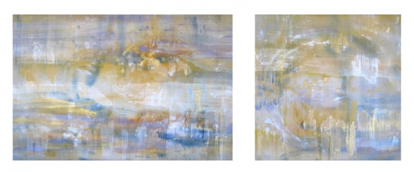 <strong>In the Midst</strong> – 40x60 and 40x40 – Acrylic with glass microspheres on canvas – $11,400