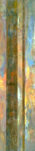 "<strong>Monumental Mystique</strong> – 84"" x 20"" – Acrylic with glass microspheres on canvas – SOLD"