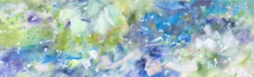 "<strong>It Might As Well Be Spring</strong> - 96"" x 30"" - Acrylic on canvas - $9,200"