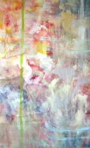 "<strong>Entranced</strong> – 58"" x 36"" – Acrylic with glass microspheres on canvas – $5,000"