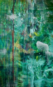"<strong>Refreshed</strong> – 58"" x 36"" – Acrylic with glass microspheres on canvas – $5,000"