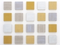 """<strong>Lux Minima Group</strong> – 5\"""" x 5\"""" – Acrylic with glass microspheres on linen – $400"""