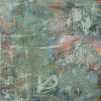 """<strong>one night</strong> – 12"""" x 12"""" – Acrylic with glass microspheres on canvas – $975"""